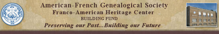 AFGS Franco-American Heritage Center Building Fund brochure